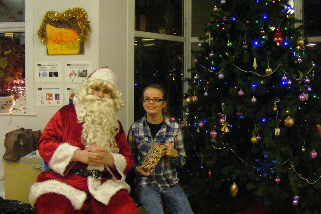 Santa visits East Kent Mencap's youth club