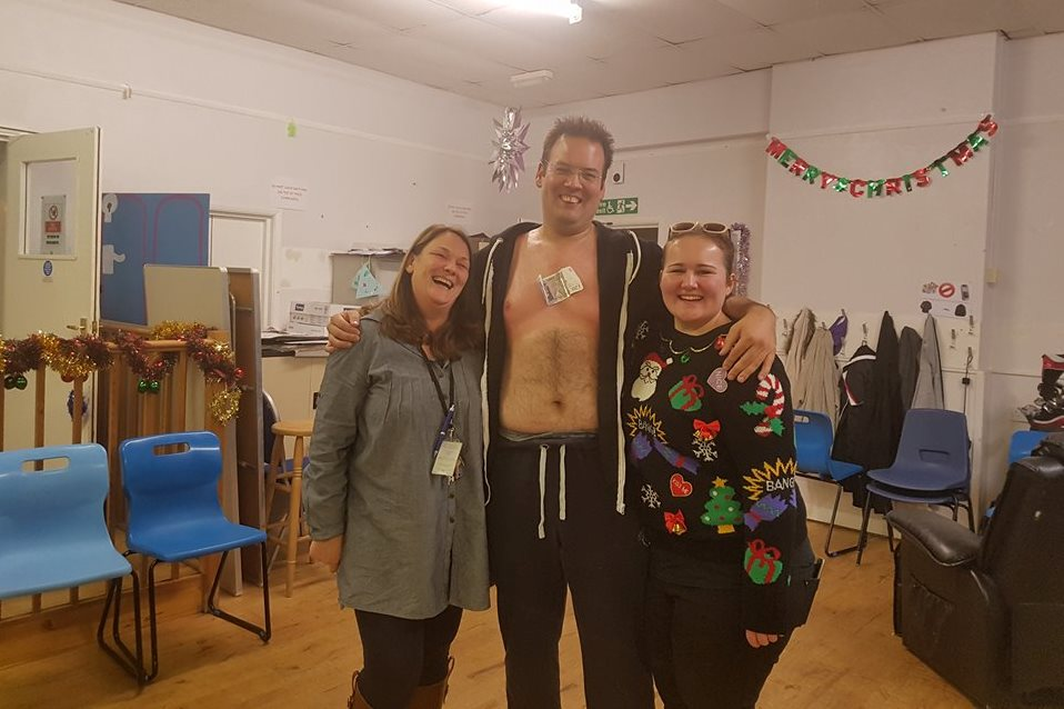 Volunteer gets chest waxed to raise money for variety show